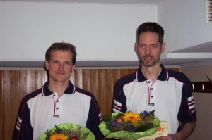 Bronzemedaillengewinner im Herrendoppel Matthias Meyer (links) und Dennis Drews (rechts)