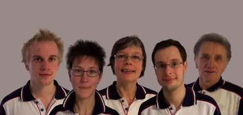 Die Medaillengewinner des LKV v.l. Chris-Alexander Lüsse, Claudia Bartels, Marie-Luise Stiefeling, Michael Duda, Otto Kohfeld