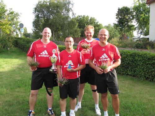 KSK Rivalen Hannover v.l. Thorsten Scheidler, Jan Christian Sales, Stefan Kraeft, Dirk Richter