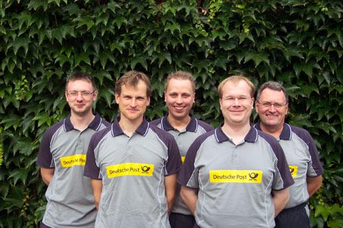 v. l. Marcel Dubbe, Matthias Meyer, Nico Zotzmann, Henrik Kiehn, Joachim Müller