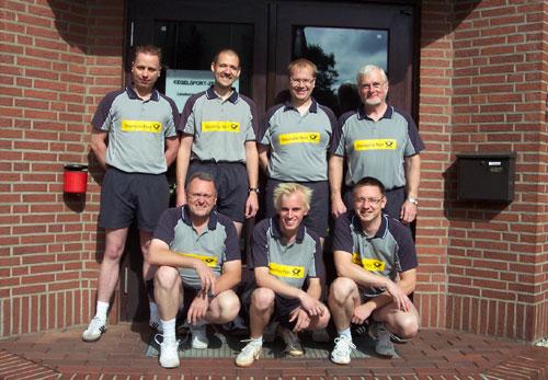 v. l. Nico Zotzmann, Joachim Müller, Thomas Zelder, Chris-Alexander Lüsse, Henrik Kiehn, Marcel Dubbe, Henning Rößner