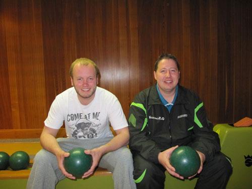 Die Sieger im Herrendoppel Malte Buschbeck (links) und Christian Spyra