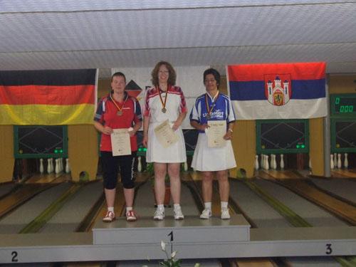2. Manuela Brückner - 1. Simone Grziwa - 3. Anja Molzahn