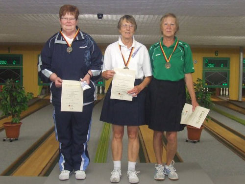 2. Birgit Rump - 1. Marianne Lübbering - 3. Margit Hesse