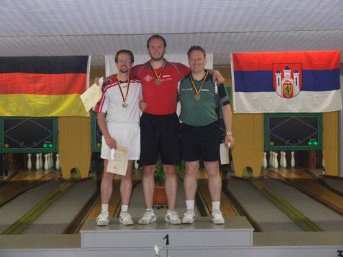 2. Dennis Krol - 1. Malte Buschbeck - 3. Jens Kohlenberg