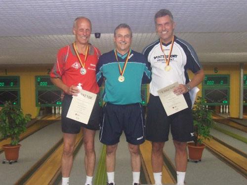 2. Hans-Peter Buschbeck - 1. Utz Strehmel - 3. Carsten Bälkow