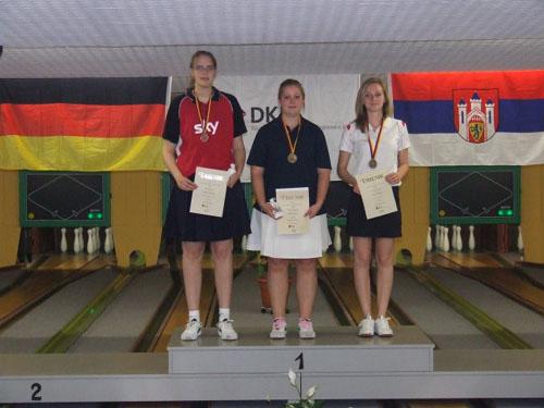 2. Wiebke Böschen - 1. Sabrina Lessau - 3. Vivien Pantzke