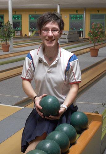 Claudia Bartels wurde Dritte in der Einzelwertung der Bezirksliga