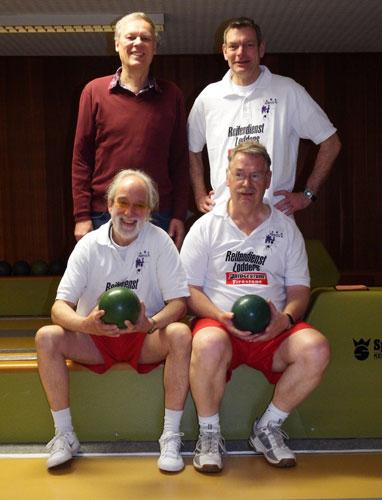 H.v.l. Bernd Möhring und Frank Lühr V.vl. Joachim Weiss und Roland Williams