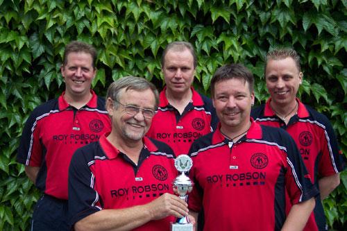Pokalsieger KSK Matador Lüneburg v. l. Arne Behn, Lothar Zernechel, Herbert Zotzmann, Thomas Zernechel, Nico Zotzmann