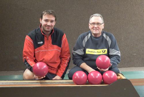 Mathias Stiefeling und Joachim Müller sind bisher die herausragenden KSG-Spieler und stehen beide in den Top Ten der Einzelwertung der Verbandsoberliga.